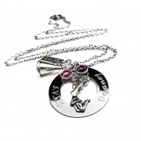 Engraved CheerLeader Necklace