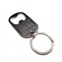 Barcode Bottle Opener Key Ring