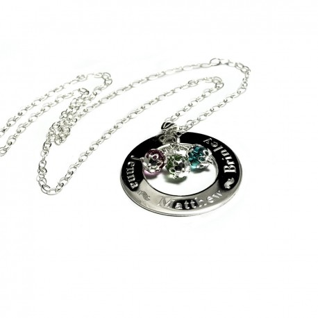 925 Sterling Silver Family Name Necklace
