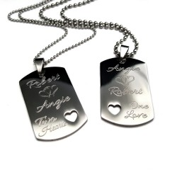 Her One, Her Only Dog Tag Necklace Set