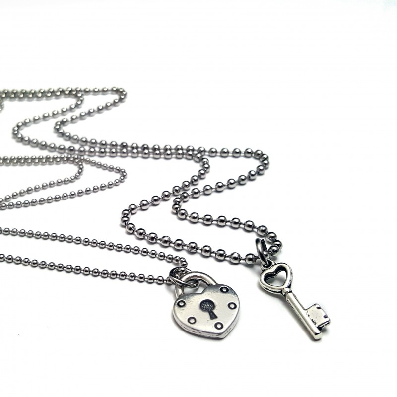 Lock And Key His And Hers Necklace Set Uniqjewelrydesigns