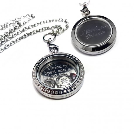 Couples Love Cubic Zirconia Floating Locket