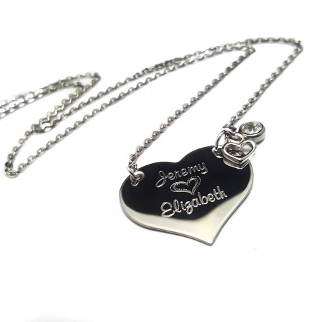 For Her With Love Name Necklace