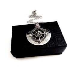 Personalized Coordinate Compass Necklace