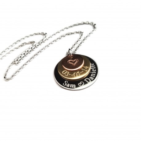 Personalized Anniversary Necklace Engraved