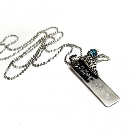 Personalized Princessl Bar Necklace