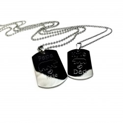 Father Son  Dog Tag Set