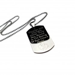 Mother and Child Dog Tag For Son