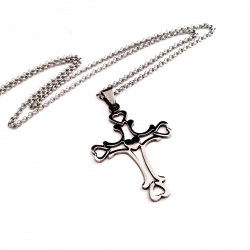 Personalized Titanium Steel Cross Heart Necklace
