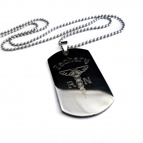 Nurse Dog Tag Necklace For Men