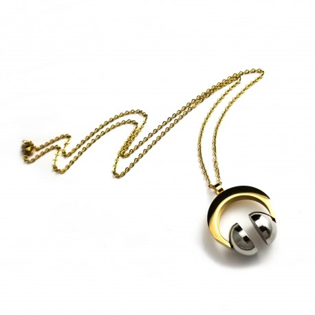 Stainless Steel Headset Pendant Necklace