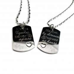 Always Together Never Apart Dog Tag Set