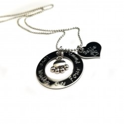 Personalized Paw Print Pet Necklace