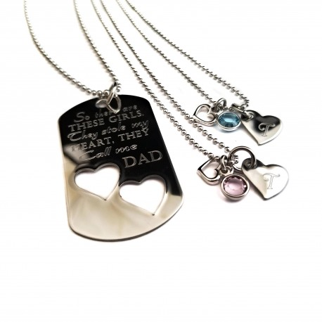 So There's These Girls They Stole My Heart Necklace Set