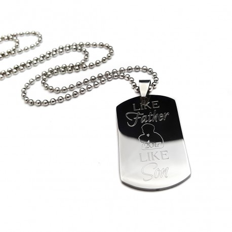 Like Father Like Son Dog Tag