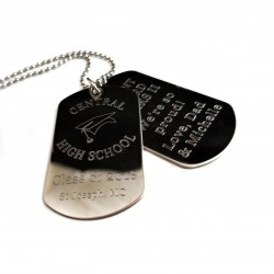 Graduation Dual Dog Tag Necklace