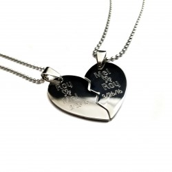 Anniversary Split Heart Necklace