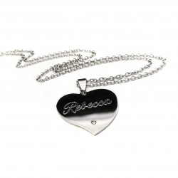 Personalized Crystal Heart Name Necklace