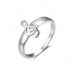 925 Sterling Silver Treble Clef Ring