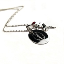 Personalized Ballerina Name Necklace