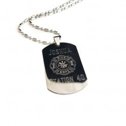 Personalized Firefighter Dog Tag