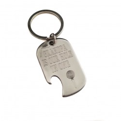 Hole in One Stainless Steel Bottle Opener Keyring