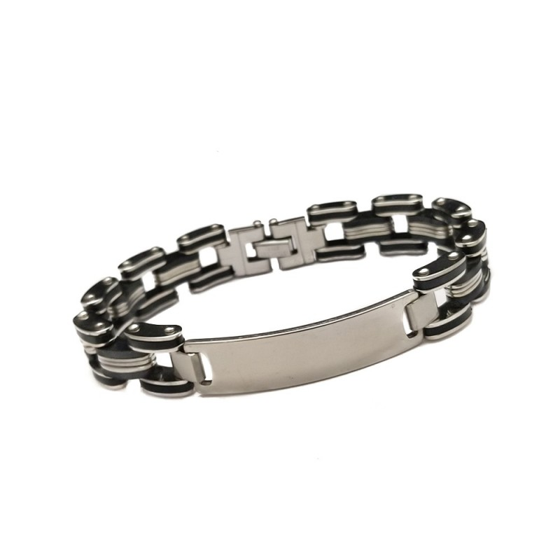 Personalized ID Bracelet For Men - UniqJewelryDesigns