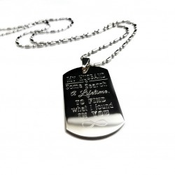 Infinity Symbol Husband Dog Tag