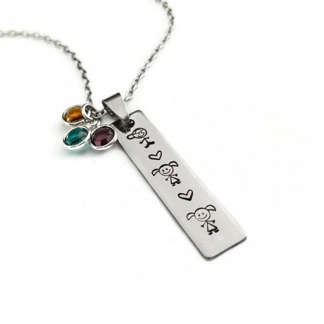 My Children Bar Necklace