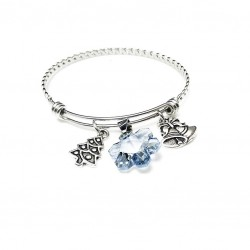 Swarovski Snowflake Bangle Bracelet