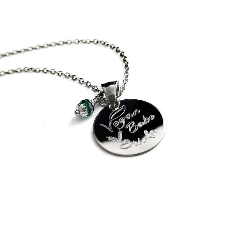 Vegan Name Necklace Uniqjewelrydesigns