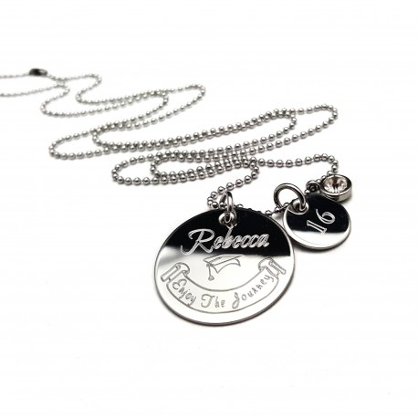 925 Sterling Silver Personalized Graduation Necklace For Her