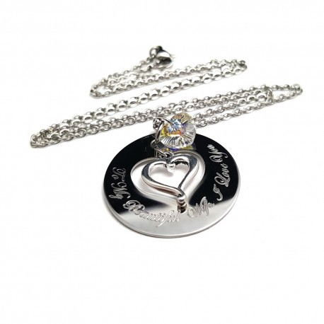 I Love You Heart Cut Out Necklace