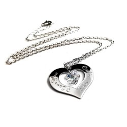 Personalized I Love You Swarovski Heart Necklace