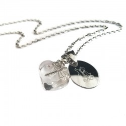 Mini Perfume Bottle Initial Necklace