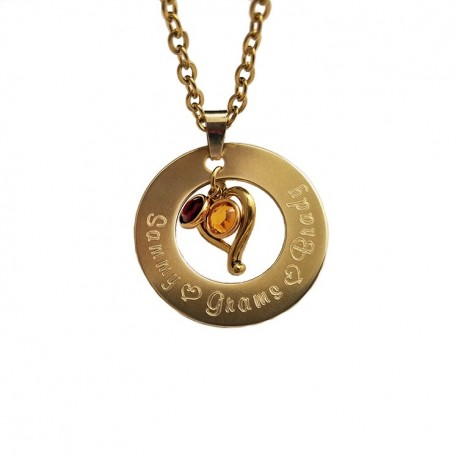 Nugold Family Name Necklace