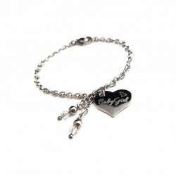 Engraved Stainless Steel Heart Bracelet