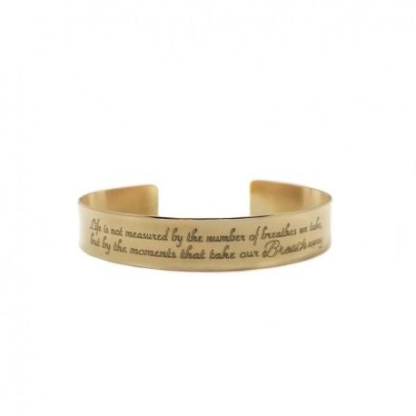 Personalized Nugold Brass Bangle Bracelet