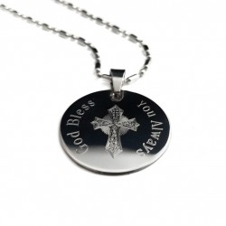 Men's Personalized Cross Pendant Necklace