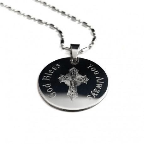 Men's Personalized Cross Pendant Necklace
