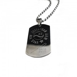 MVP Baseball Dog Tag Necklace
