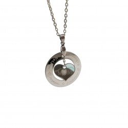 Floating Heart Mom Necklace
