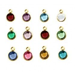 Gold Color Swarovski Crystal Channel Charm Add On