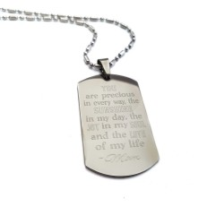 Son Quote You Are Precious In Every Way Dog Tag