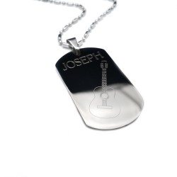 Guitar Dog Tag Necklace