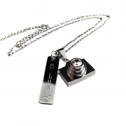 Personalized Photographers Camera Necklace