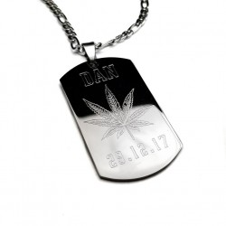 Hemp Cannabis Dog Tag Necklace