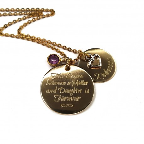 The Love Between a Mother and Daughter NuGold Necklace