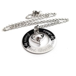 Sisters by blood, Best friends by choice Necklace