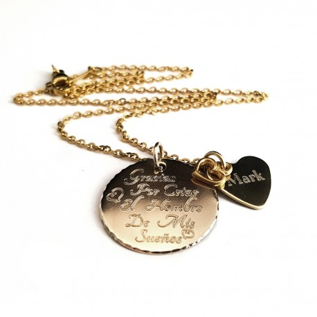 Thank You For Raising The Man Of My Dreams (Spanish) Necklace